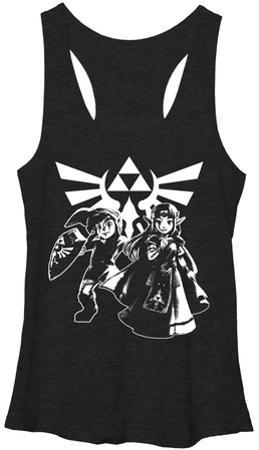 Juniors Tank Top: Legend Of Zelda- Heroes Of Hyrule