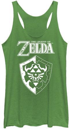 Juniors Tank Top: Legend Of Zelda- Links Shield