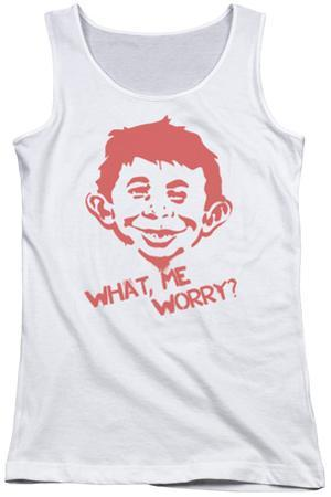 Juniors Tank Top: Mad - What Me Worry