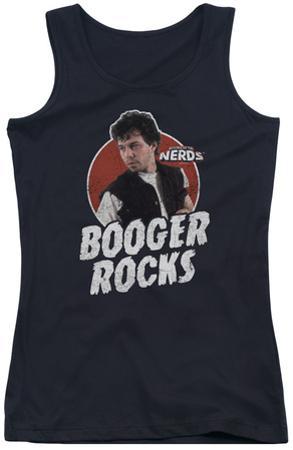 Juniors Tank Top: Revenge Of The Nerds - Booger Rocks