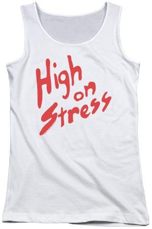 Juniors Tank Top: Revenge Of The Nerds - High On Stress