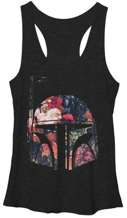 Juniors Tank Top: Star Wars- Floral Fett