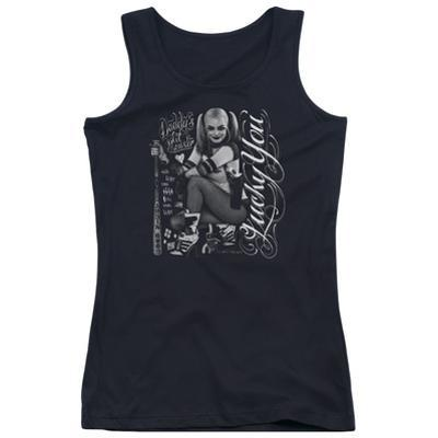 Juniors Tank Top: Suicide Squad- Harley Quinn Lucky You