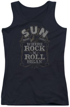 Juniors Tank Top: Sun Records - Where Rock Began