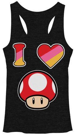 Juniors Tank Top: Super Mario Bros- I Heart