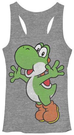 Juniors Tank Top: Super Mario Bros- Yoshi Hug