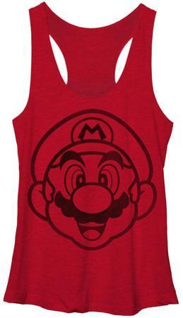 Juniors Tank Top: Super Mario- Face It