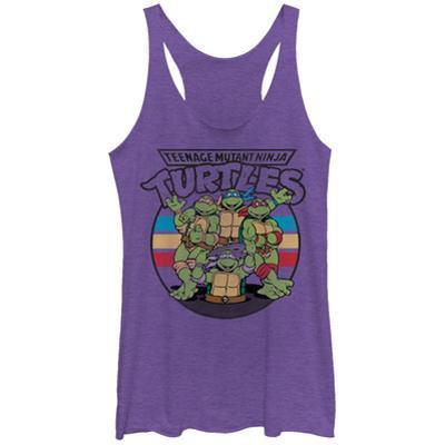 Juniors Tank Top: Teenage Mutant Ninja Turtles- Raf, Weekend Warrior Scoop Neck