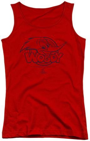 Juniors Tank Top: Woody Woodpecker - Big Head