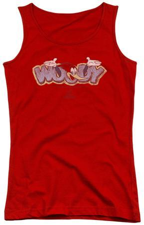 Juniors Tank Top: Woody Woodpecker - Sketchy Bird