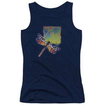 Juniors Tank Top: Yes- Dragonfly Stamp