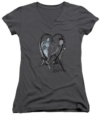 Juniors: The Corpse Bride - Runaway Groom V-Neck