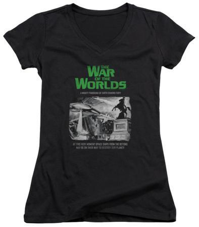 Juniors: War Of The Worlds - Attack People Poster V-Neck