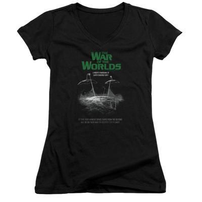 Juniors: War Of The Worlds - Attack Poster V-Neck