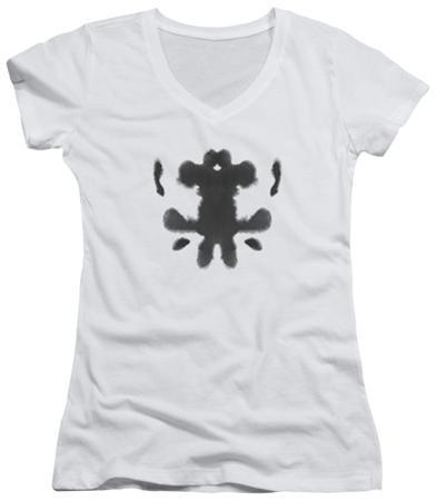 Juniors: Watchmen - Rorschach Face V-Neck