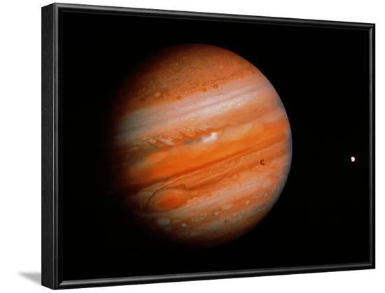 Jupiter & Two Moons--Framed Photographic Print