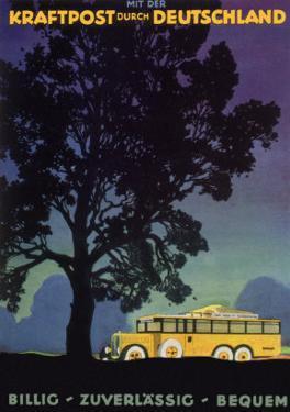 Bus in Country, 1931 by Jupp Wiertz
