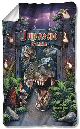 Jurassic Park - Welcome To The Park Fleece Blanket