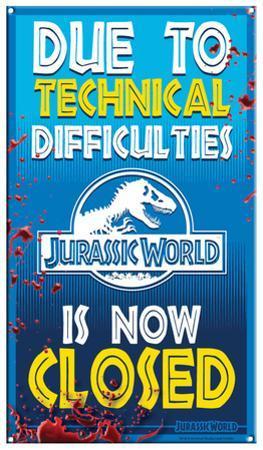 Jurassic World - Ride Closed