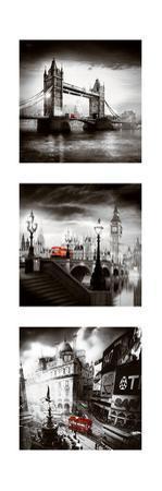 London Bus Triptych I by Jurek Nems