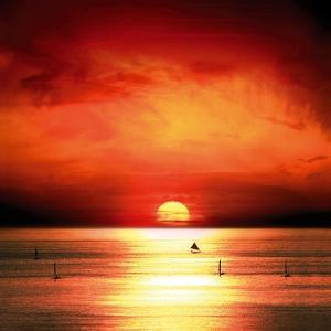 Sunset Sea by Jurek Nems
