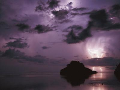 Lightning and Thunderstorm Over Sulu-Sulawesi Seas, Indo-Pacific Ocean by Jurgen Freund