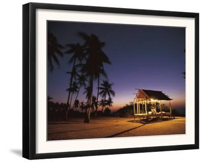 Rest House for Fishermen on Beach, Pamilacan Is, Philippines by Jurgen Freund