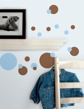 Just Dots - Light Blue & Brown