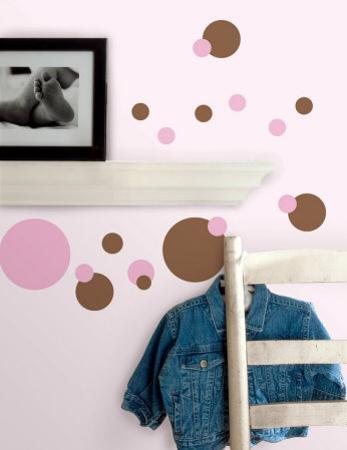Just Dots - Pink & Brown