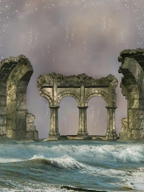 Ruins In The Sea by justdd