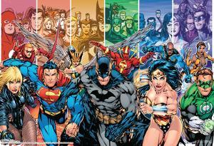 Justice League Of America Generations Group Team Comic Poster