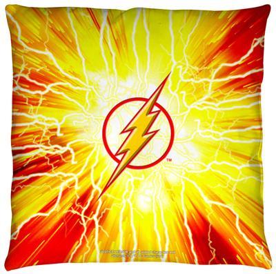 Justice League of America - Lightning Emblem Throw Pillow