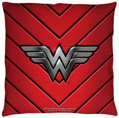 Justice League of America - Ww Emblem Throw Pillow