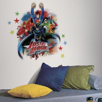 Justice League Peel u0026 Stick Giant Wall Decals & Comic Book Wall Decals Posters for sale at AllPosters.com