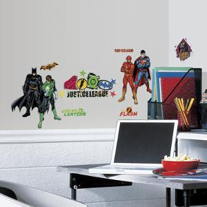 Justice League Peel & Stick Wall Decals