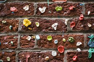 Gum Wall At Pike Place Market, Public Market Overlooking Elliott Bay Waterfront In Seattle, WA by Justin Bailie