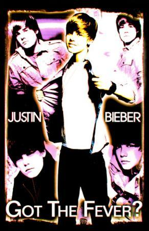 Justin Bieber - Black Light Poster