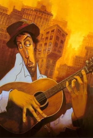 El Guitarrista by Justin Bua