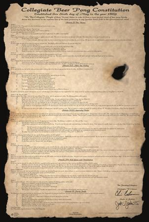 Beer Pong Constitution by Justin Jenkins