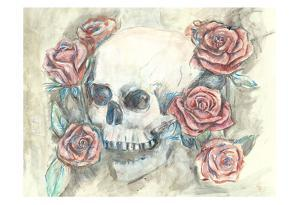 Skull and Roses by Justine Bassani