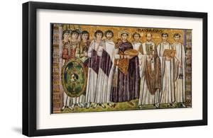 Justinian and His Ministers with Maximian, Bishop of Ravenna