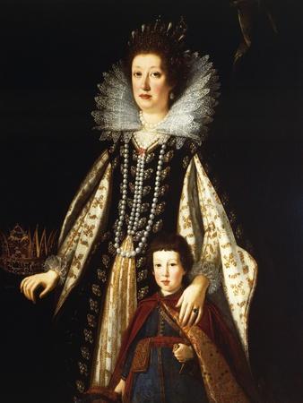 Portrait of Archduchess Maria Maddalena of Austria with Her Son Ferdinand Ii, 1622-23