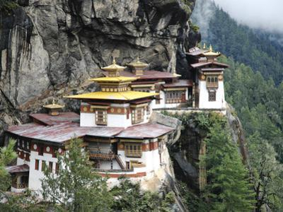 Tigernest, Very Important Buddhist Temple High in the Mountains, Himalaya, Bhutan by Jutta Riegel