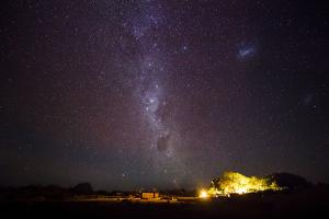 Chile, San Pedro De Atacama, Stars, Farm under the Milky Way by Jutta Ulmer