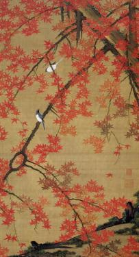 Two Birds Meet Up on the Maple Tree by Jyakuchu Ito