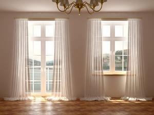 Room with Windows and Balcony Door by JZhuk
