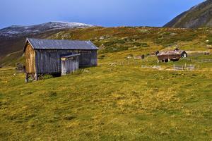Norway, Dovre, Alpine Dairies in Grimsdalen, Autumn by K. Schlierbach