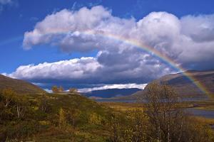 Norway, Rainbow over the Lake ovre-Sjodal by K. Schlierbach