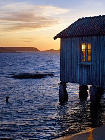 Sweden, Bohus, West Coast, Old Fisherman's Cottage in Grebbestad by K. Schlierbach