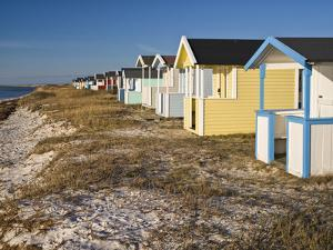 Sweden, Falsterbo, Bathing Hut at the Baltic Sea Beach by K. Schlierbach